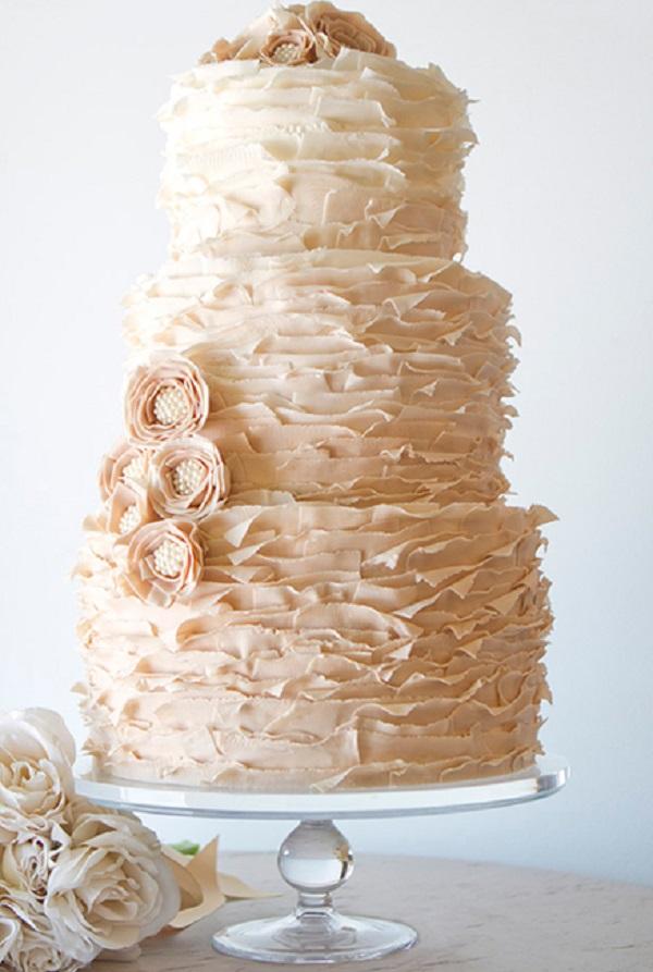 30 idee per una torta nuziale che lasci a bocca aperta i vostri ...