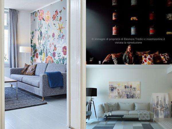 Parete Dietro Divano Grigio : Come dipingere o decorare la parete dietro il divano