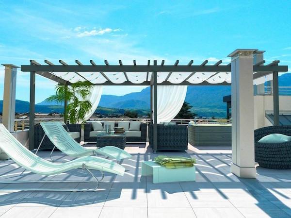 Idee e consigli d 39 arredo per spazi esterni giardini for Arredo terrazzo design