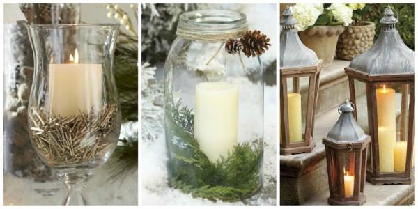 Idee per l 39 addobbo di un matrimonio natalizio - Decorare lanterne ...