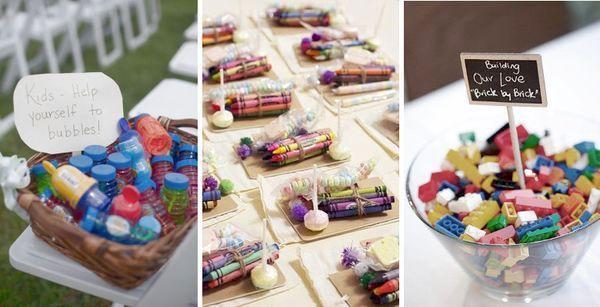 Tavolo dei bambini idee per un ricevimento di nozze adatto anche