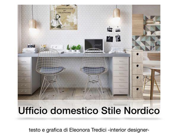 Idee d 39 arredo per un ufficio in casa in stile nordico for Arredo on line casa