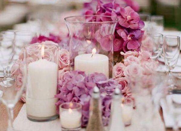 Amato matrimonio dalla magica atmosfera: candele, vetri e fiori di campo QV77