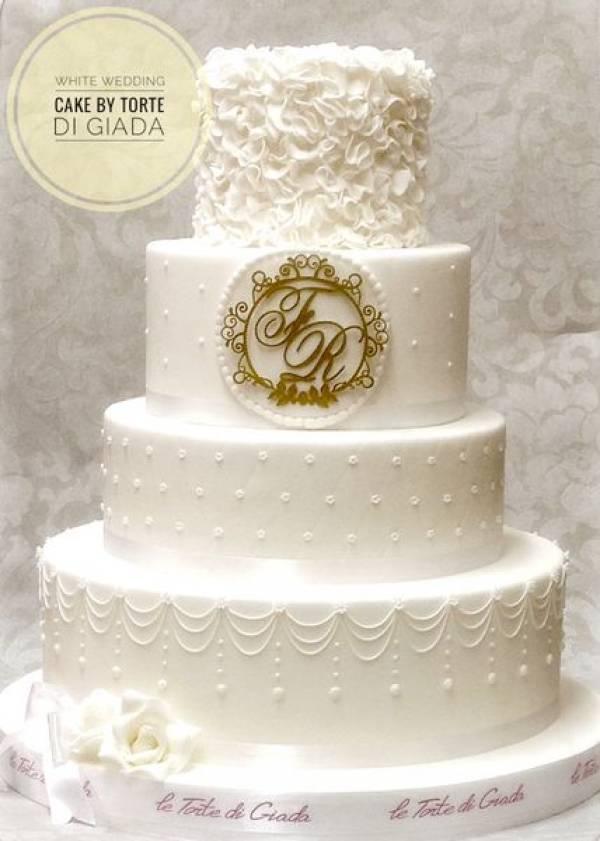 Estremamente idea per una torta di matrimonio classica ed elegante NW56