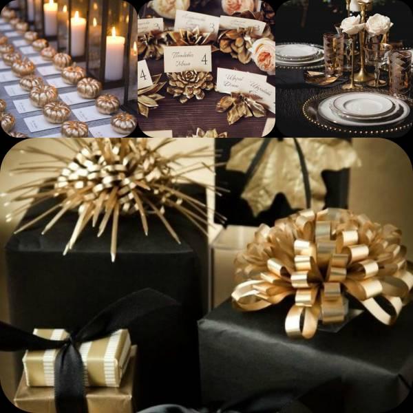 Matrimonio In Nero : Nero e oro: colori perfetti per bomboniere e nozze autunnali