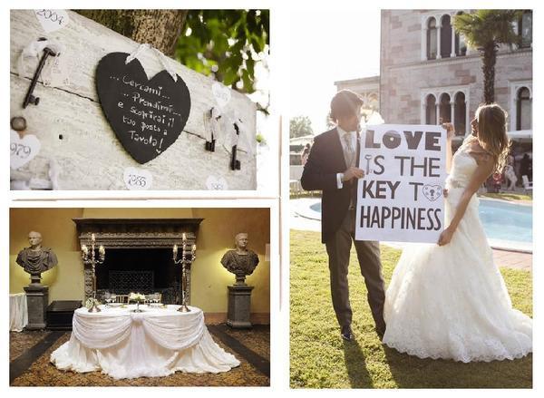 Matrimonio Tema Amore : Un matrimonio e ricevimento di nozze a tema