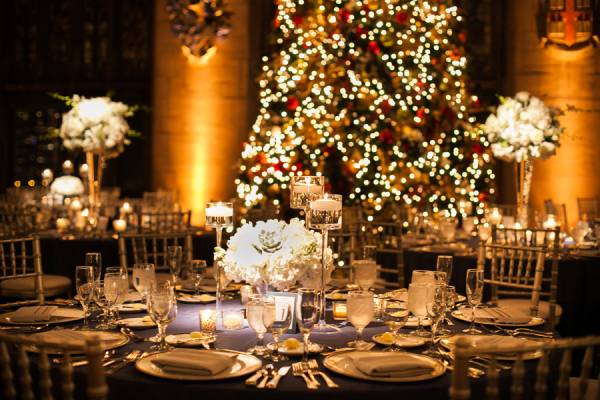 Idee Matrimonio Tema Natalizio : Un ricevimento di matrimonio natalizio
