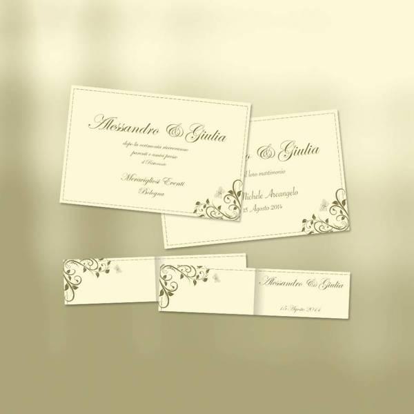 Fabuleux PARTECIPAZIONI e Inviti di Matrimonio gratuiti HV48