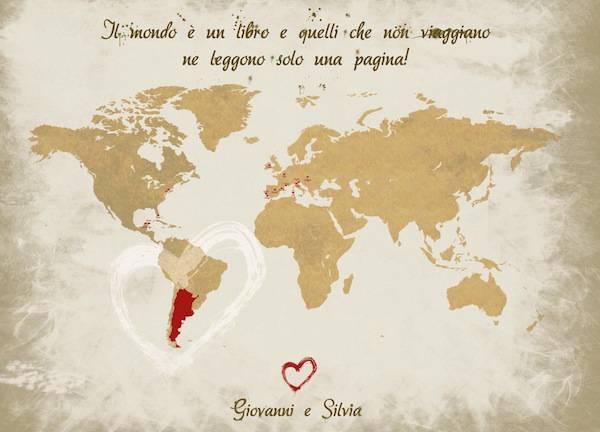 Auguri Matrimonio Lista Viaggio : Il mondo intero in un tableau